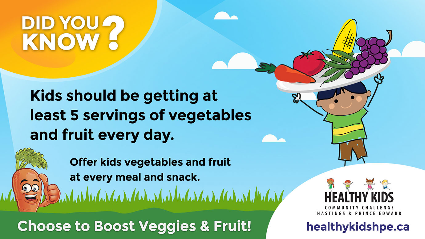 Healthy Kids - Choose to Boost Veggies & Fruit!